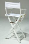 Alternate view thumbnail 3 of Plain White Director's Chair