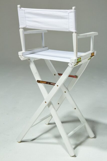 Alternate view 3 of Plain White Director's Chair