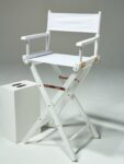 Alternate view thumbnail 1 of Plain White Director's Chair