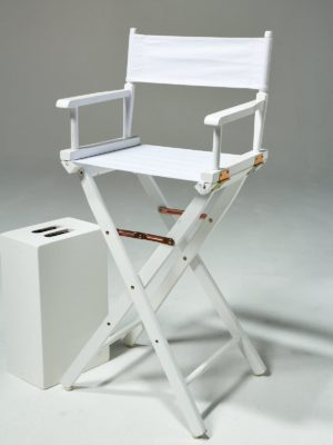 Alternate view 1 of Plain White Director's Chair