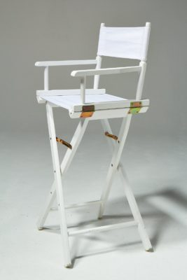Alternate view 2 of Plain White Director's Chair