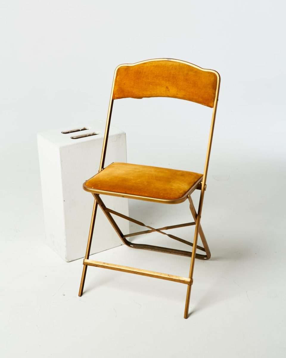 Alternate view 1 of Gold Velvet Folding Chair