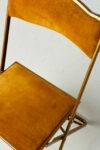 Alternate view thumbnail 2 of Gold Velvet Folding Chair