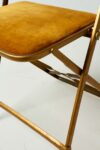 Alternate view thumbnail 3 of Gold Velvet Folding Chair