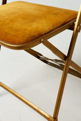 Alternate view 3 of Gold Velvet Folding Chair