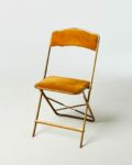 Front view thumbnail of Gold Velvet Folding Chair