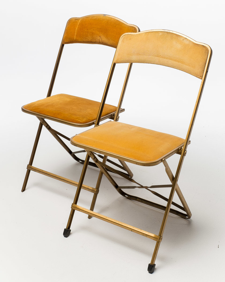 Alternate view 4 of Gold Velvet Folding Chair