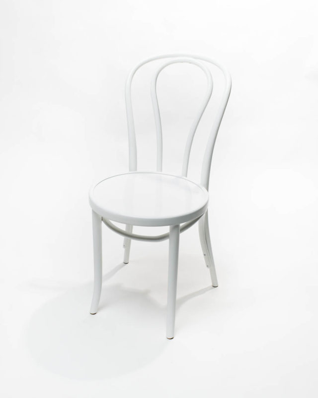 Front view of White Cafe Chair
