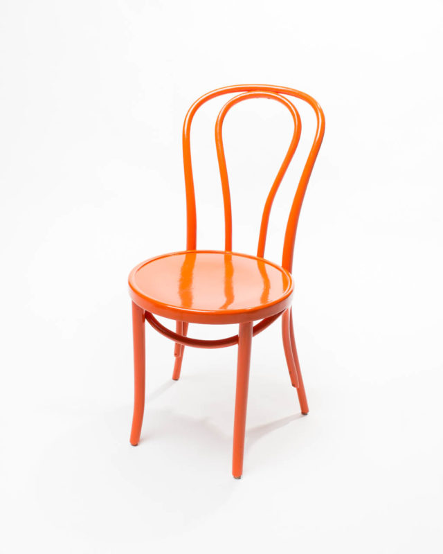 Front view of Orange Cafe Chair