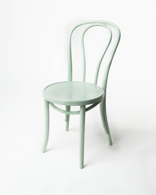 Front view of Seafoam Cafe Chair
