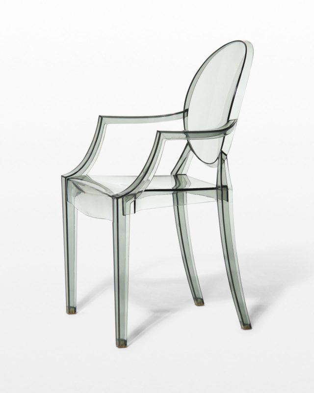 Front view of Smoke Acrylic Ghost Chair