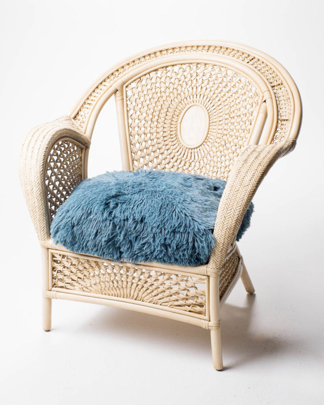 Front view of Boho Wicker Chair