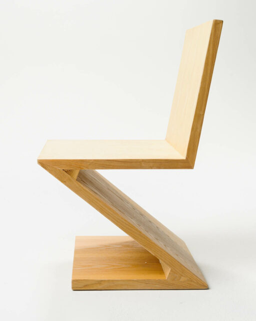 Front view of Statler Natural Wood Z Chair
