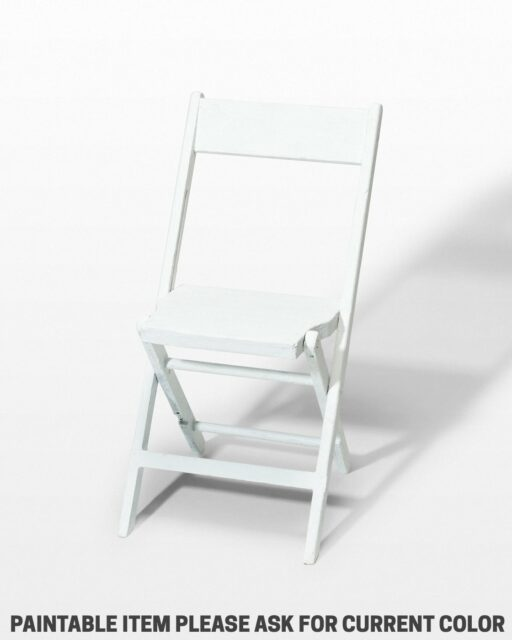 Front view of Paintable Folding Chair