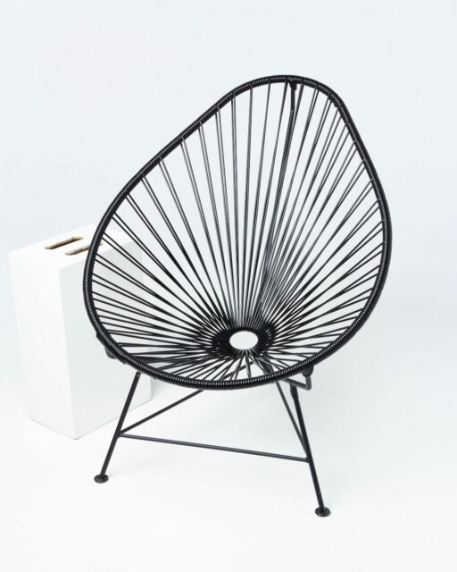 Front view of Midnight Cone Chair