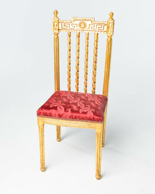 Front view of Gilded Side Chair