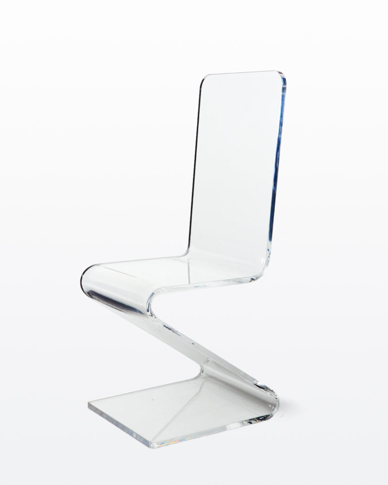 Front view of Curve Acrylic Chair