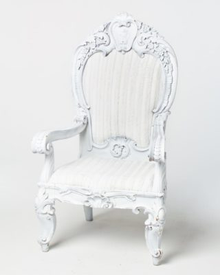 Front view of White Alice Chair