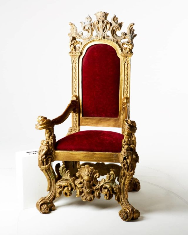 Front view of Charles Throne