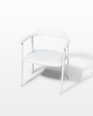 Front view of Eastman White Chair