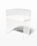 Front view thumbnail of Rohe Acrylic Curve Chair