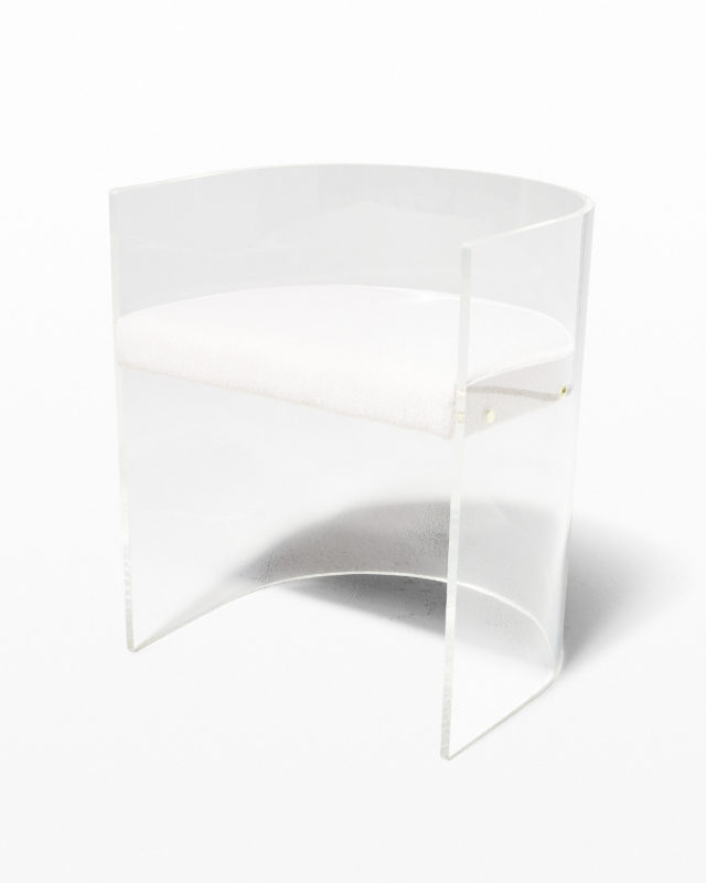 Front view of Rohe Acrylic Curve Chair