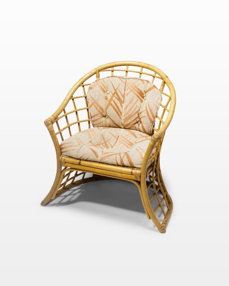 Front view of Pearl Rattan Chair