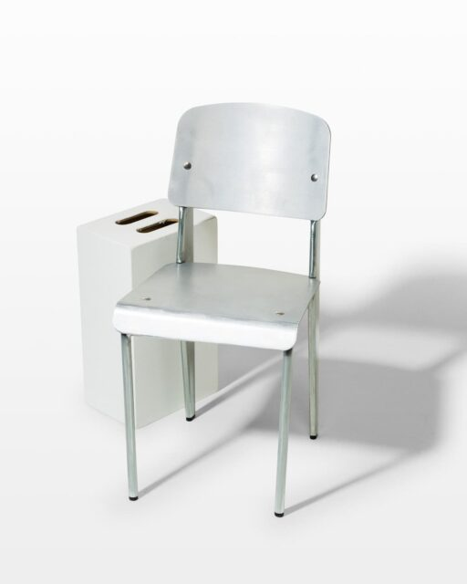 Front view of Allen Metal Chair