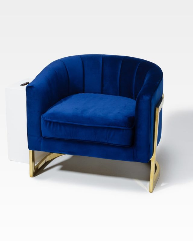Front view of Banks Armchair