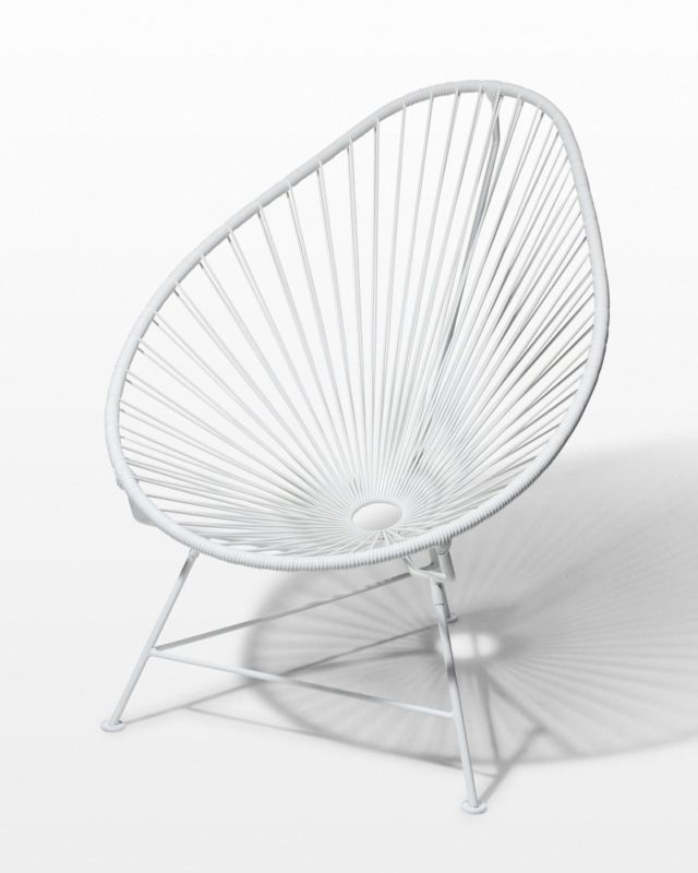Front view of Ivory Cone Chair