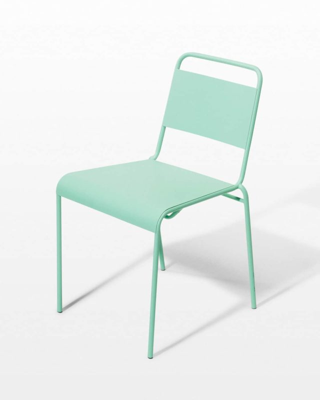 Front view of Mint Metal Chair