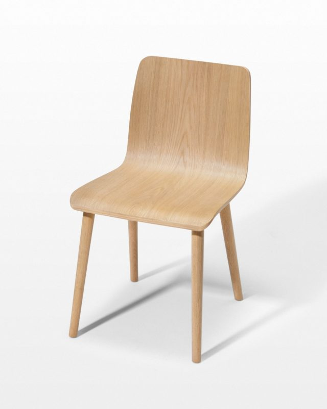 Front view of Lauter Natural Oak Chair