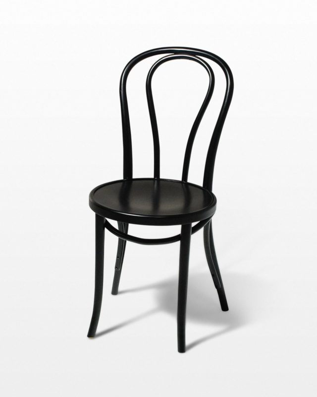 Front view of Black Cafe Chair