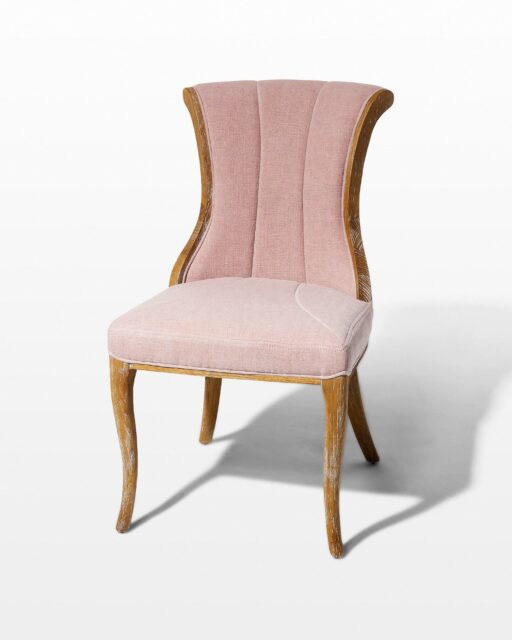Front view of Aimee Blush Chair