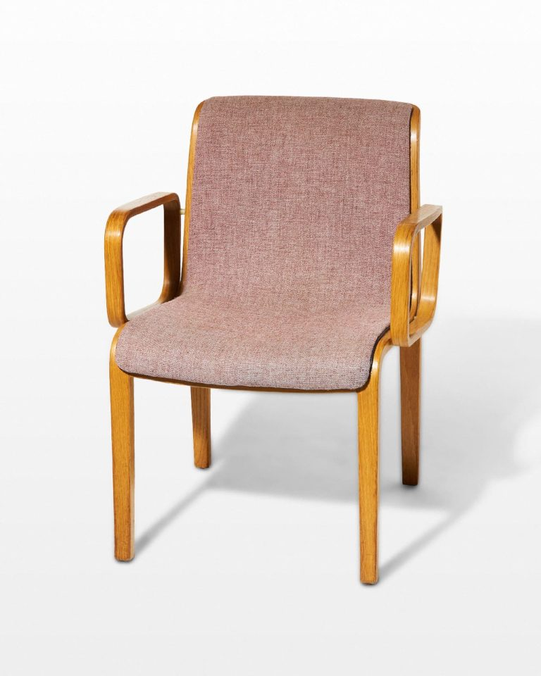Front view of Blush Bentwood Chair