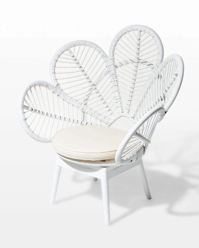 Front view of Marta Wicker Chair