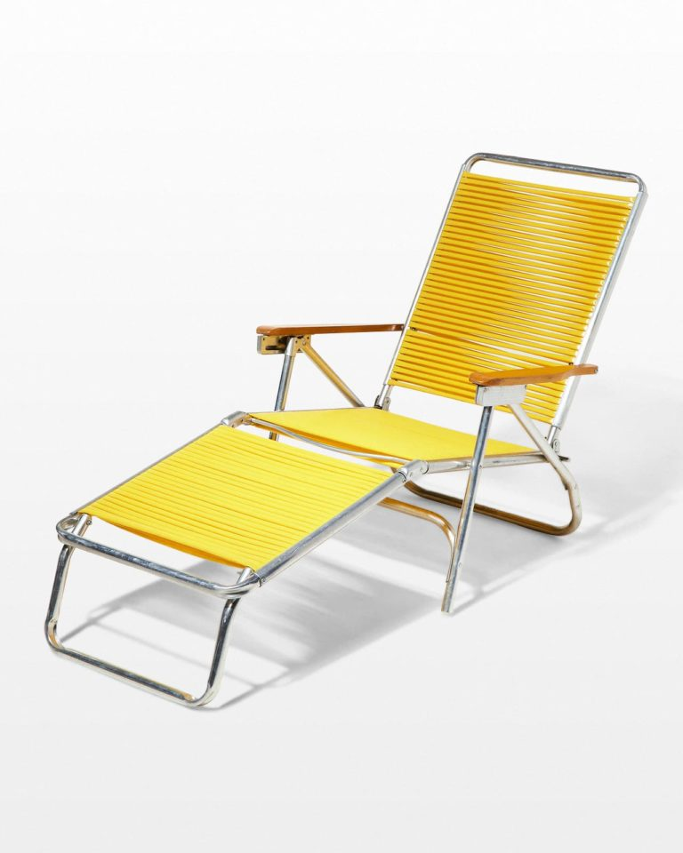 Front view of Sunshine Yellow Beach Lounge Chair