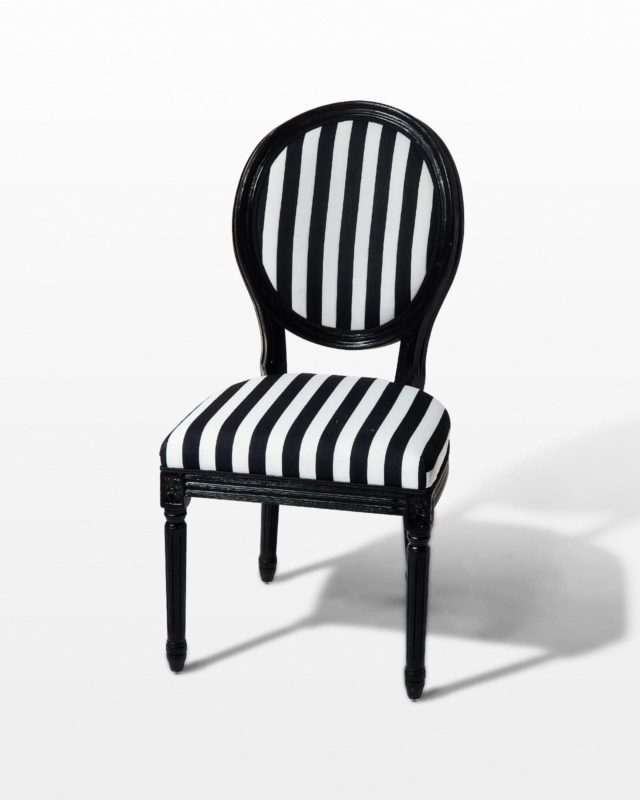 Front view of Allison Striped Chair