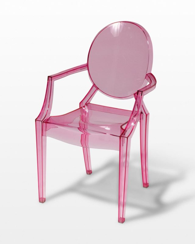 Front view of Rosy Ghost Chair