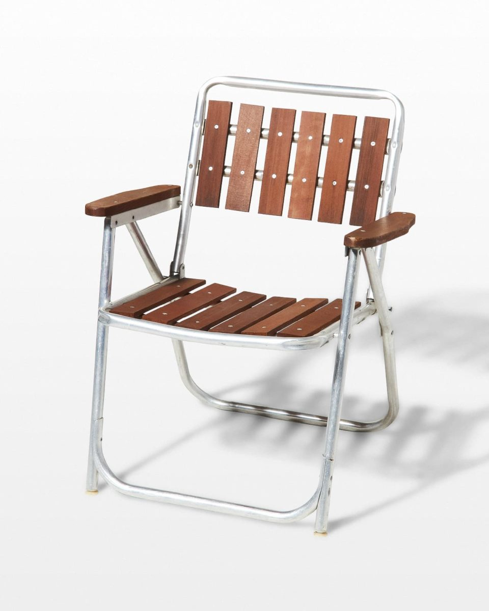 Front view of Emory Teak Lawn Chair