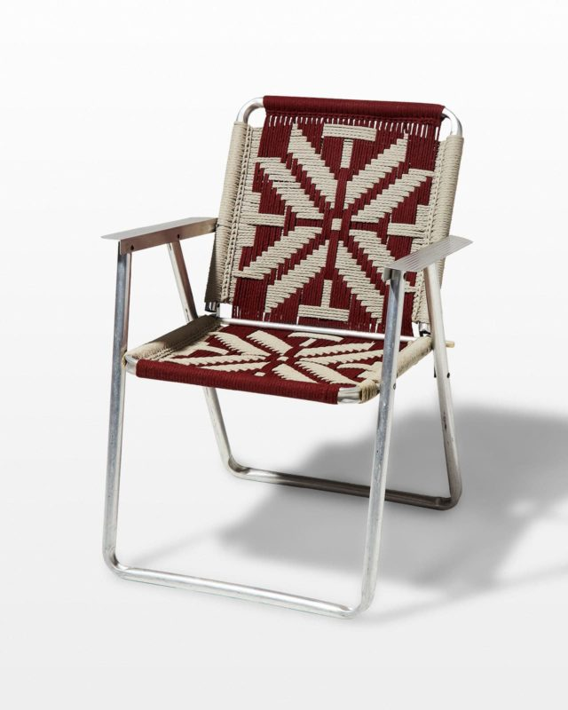 Front view of Impala Macrame Lawn Chair