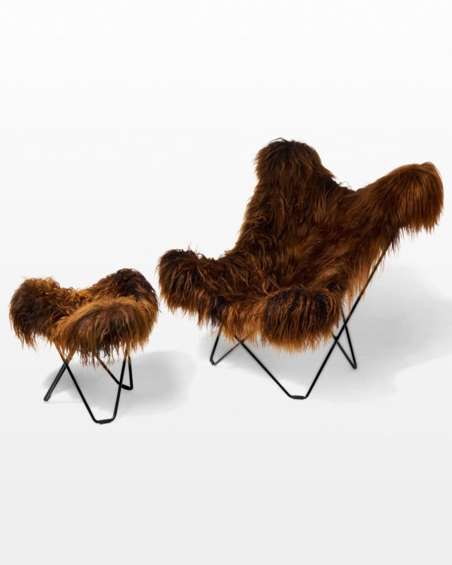 Front view of Bacca Fur Butterfly Chair