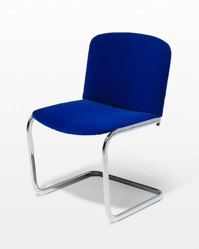 Front view of Cobalt Cantilever Chair