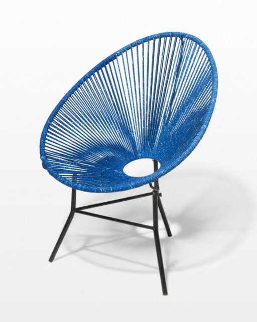 Front view of Eliza Indigo Cone Chair