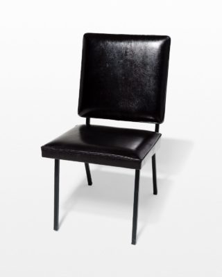 Front view of Pacific Black Leather Chair