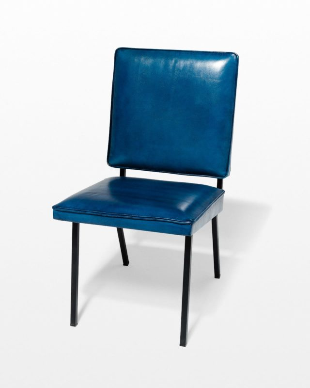 Front view of Atlantic Indigo Leather Chair