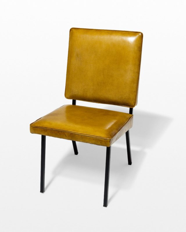 Front view of Caspian Brown Leather Chair