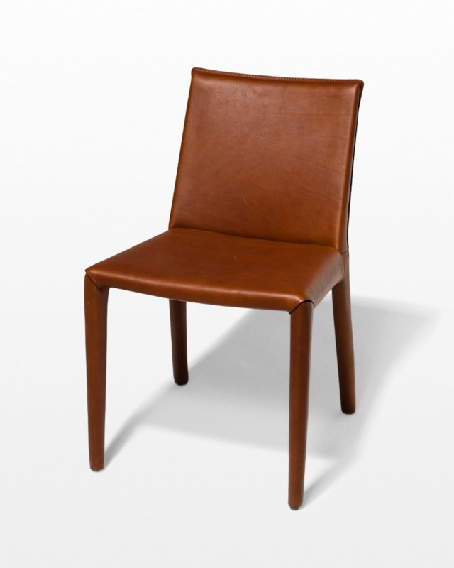 Front view of Tobacco Leather Chair