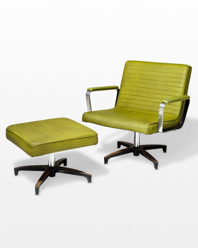 Front view of Anthony Lounge Chair and Ottoman