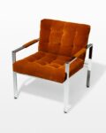 Front view thumbnail of Milo Rust Lounge Chair